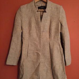 Zara lambs wool fitted coat size M
